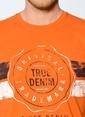 Mustang Baskılı T-Shirt Oranj